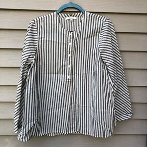 Madewell Striped Round Neck Blouse